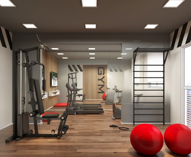 Fitness - Perspectiva Ilustrada - Plano&Reserva Vila Andrade