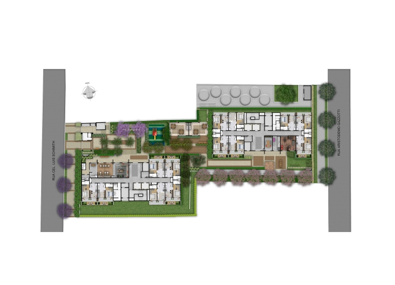 Implantação - Perspectiva Ilustrada - Plano&Reserva Vila Andrade