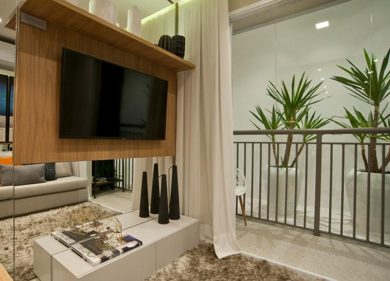Living - 34m² - Plano&Mooca Praça Lion II