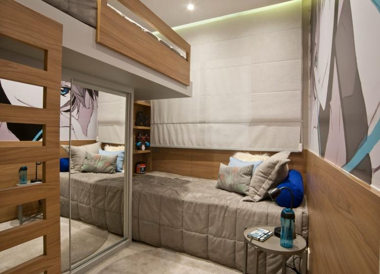 Dormitório II - 34m² - Plano&Mooca Praça Lion II