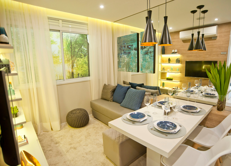 Living - decorado 34m² - Plano&Iguatemi - Santa Teresa I