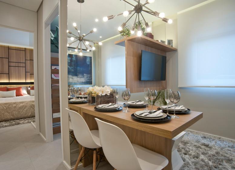 Living - 32,06m² - Plano&Jardim Planalto