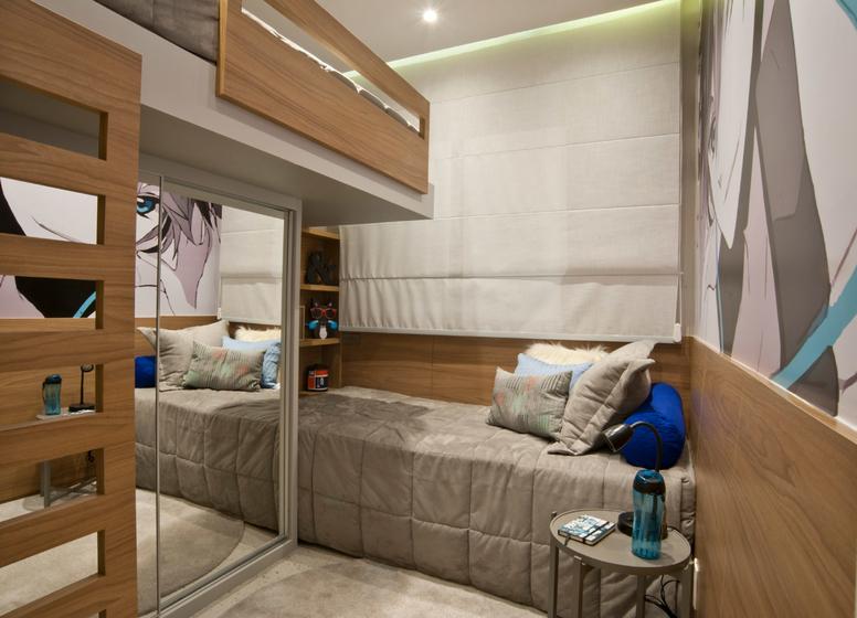 Dormitório II - 34m² - Plano&Mooca Praça Lion III