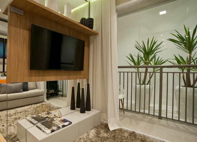 Living - 34m² - Plano&Mooca Praça Lion III