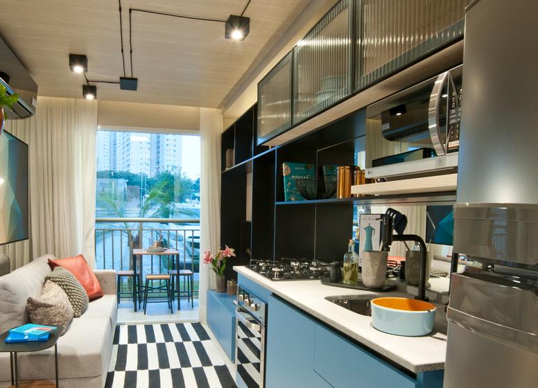 Cozinha com Living - 26 m² - Laguna 380