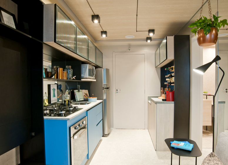 Living com Cozinha - 26 m² - Laguna 380