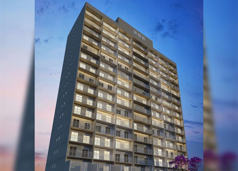 Fachada (Torre B - 1DORM) - Perspectiva Ilustrada - Vila Marquês