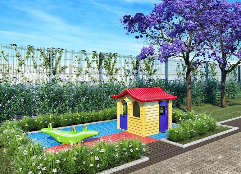 Playground - Perspectiva Ilustrada - Plano&Jardim Marajoara