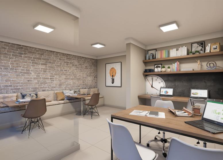 Sala de Estudos - Perspectiva Ilustrada - Plano&Iguatemi - Santa Teresa II