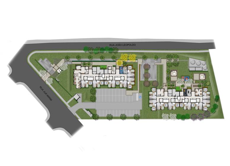Plano&Iguatemi - Santa Teresa II -  Implantação - Plano&Iguatemi - Santa Teresa II