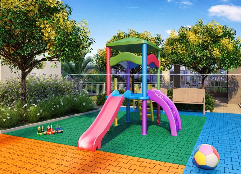Playground - Perspectiva Ilustrada (Anhaia Mello) - Vila Anhaia Mello