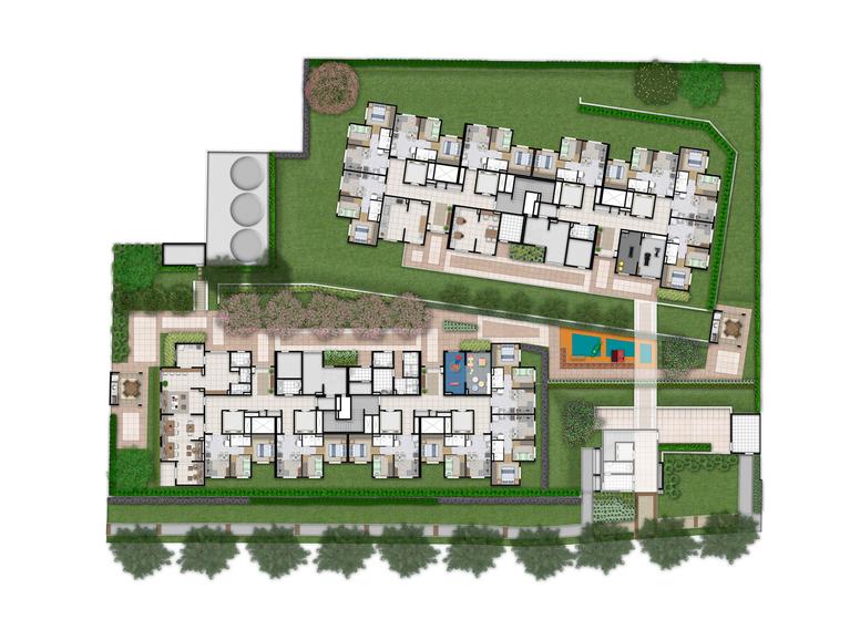 Implantação (Plano&Alto do Jaraguá II) - Perspectiva Ilustrada - Plano&Alto do Jaraguá II