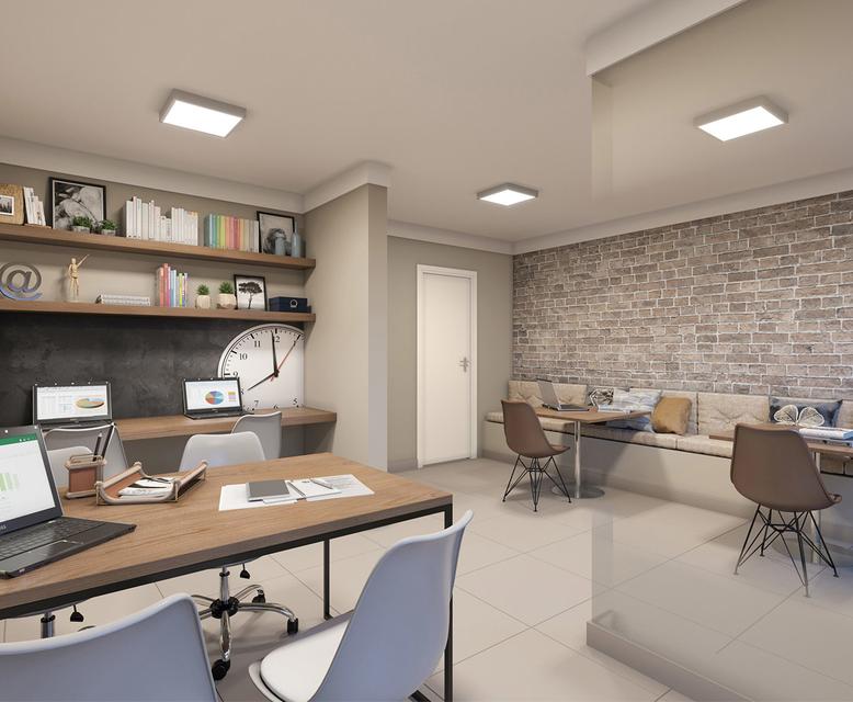 Sala de Estudos -  - Perspectiva Ilustrada - Plano&Estação Giovanni Gronchi