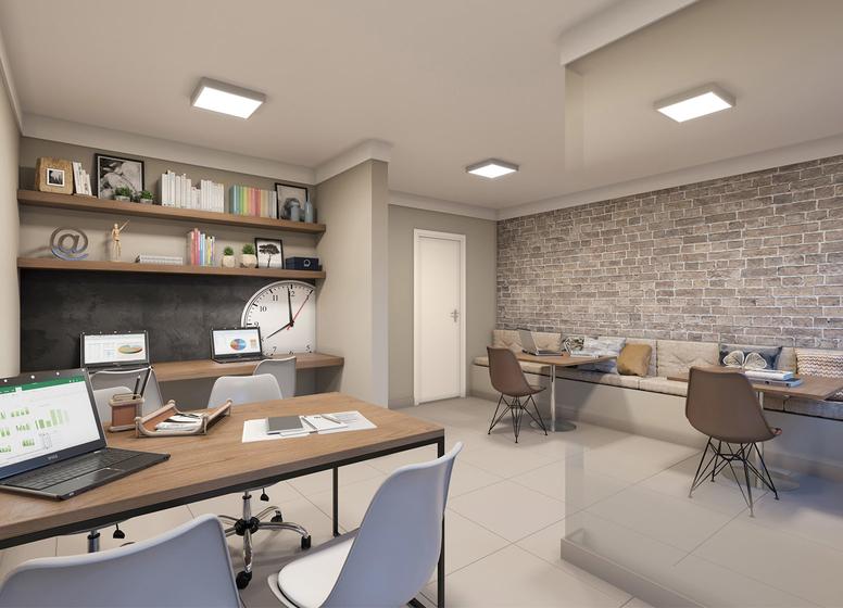 Sala de Estudos - Perspectiva Ilustrada - Plano&Estação Giovanni Gronchi