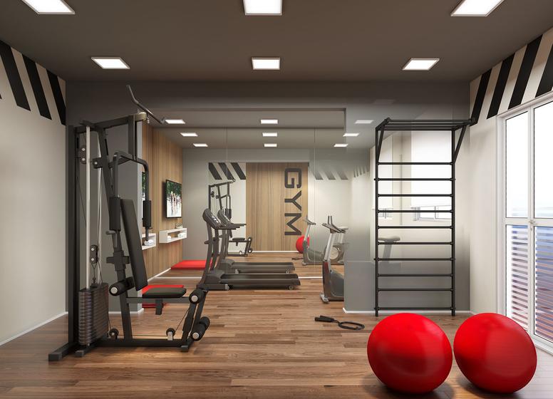 Fitness - Perspectiva Ilustrado - Plano&Estação Barra Funda