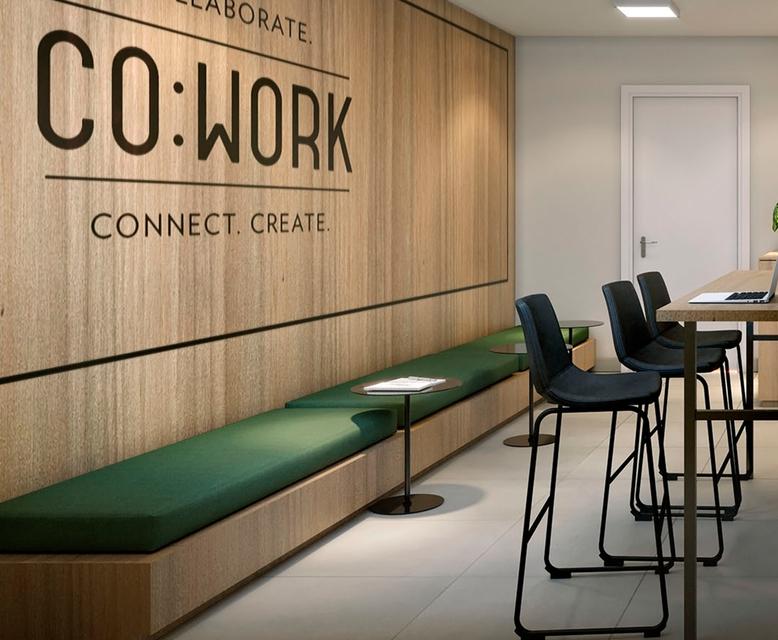 Cowork - Perspectiva Ilustrado - Plano&Estação Barra Funda