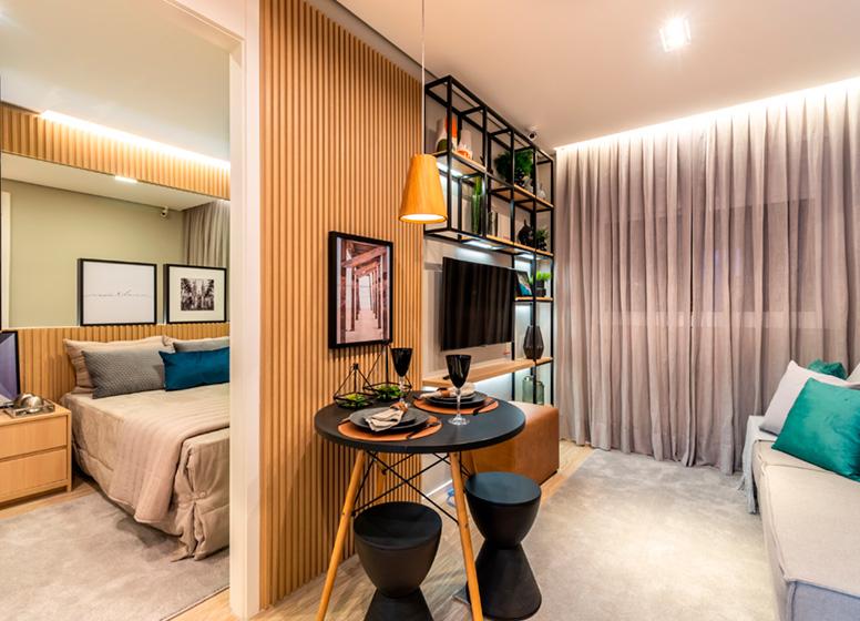 Living - 26m² (decorado) - Plano&Jardim Marajoara