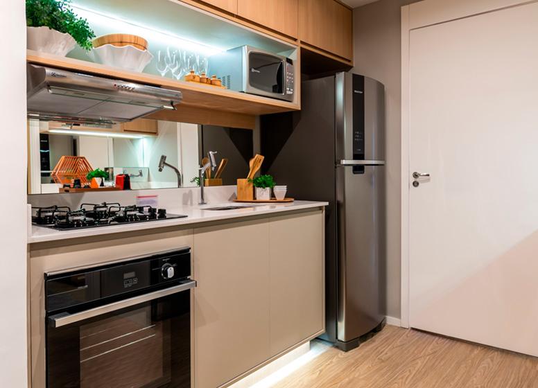 Cozinha - 26m² (decorado) - Plano&Jardim Marajoara