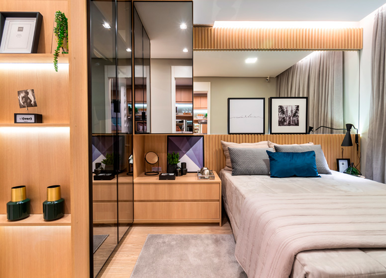 Dormitório - 26m² (decorado) - Plano&Jardim Marajoara