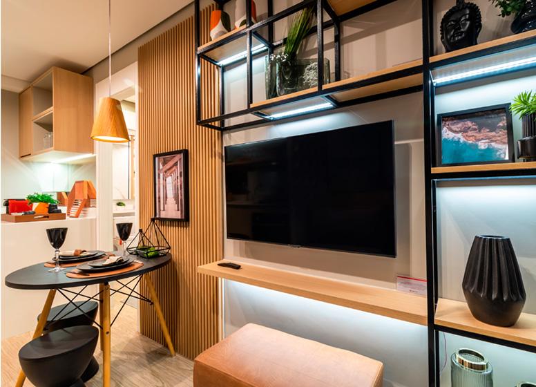 Living - 26m² (decorado) - Plano&Estação Giovanni Gronchi
