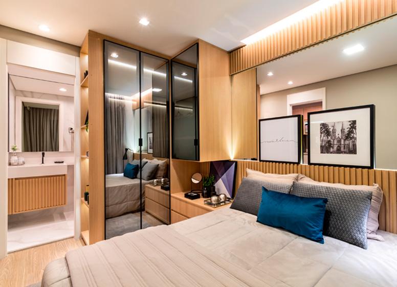 Dormitório - 26m² (decorado) - Plano&Estação Giovanni Gronchi