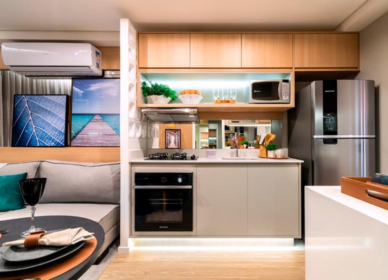 Cozinha - 26m² (decorado) - Plano&Reserva do Cambuci