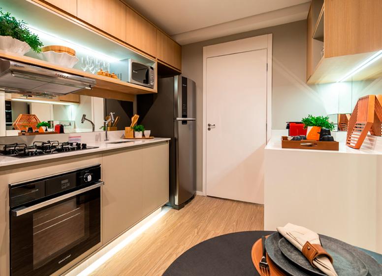 Cozinha - 26m² (decorado) - Plano&Estação Barra Funda