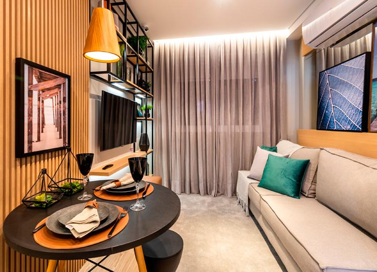 Living - 26m² (decorado) - Plano&Estação Barra Funda