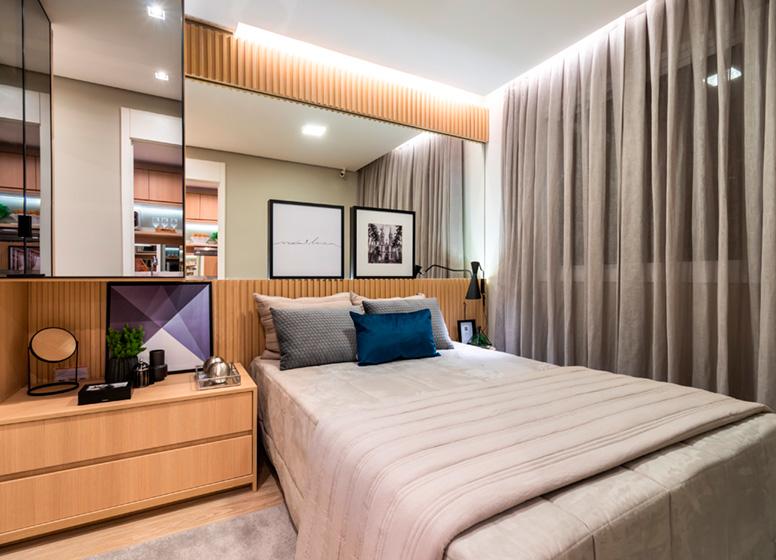 Dormitório - 26m² (decorado) - Plano&Estação Barra Funda
