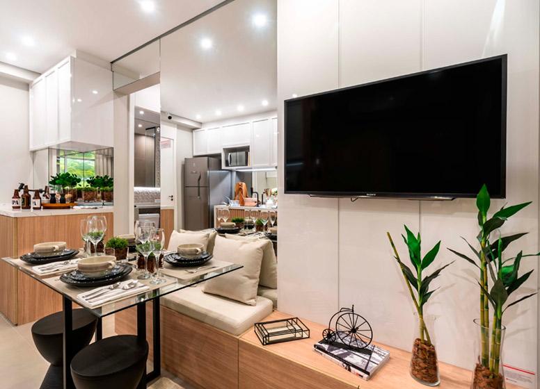 Living - 32m² (decorado) - Plano&Alto do Jaraguá II