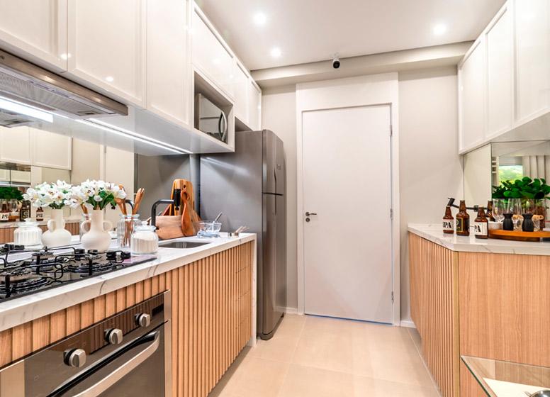 Cozinha - 32m² (decorado) - Plano&Alto do Jaraguá II