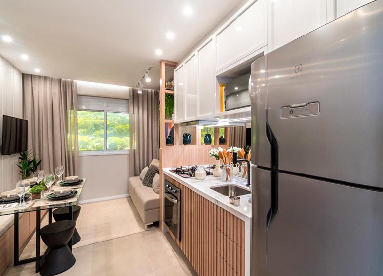 Cozinha - 32m² (decorado) - Edvard Carmilo III