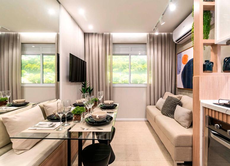 Living - 32m² (decorado) - Plano&Mais Cambuci