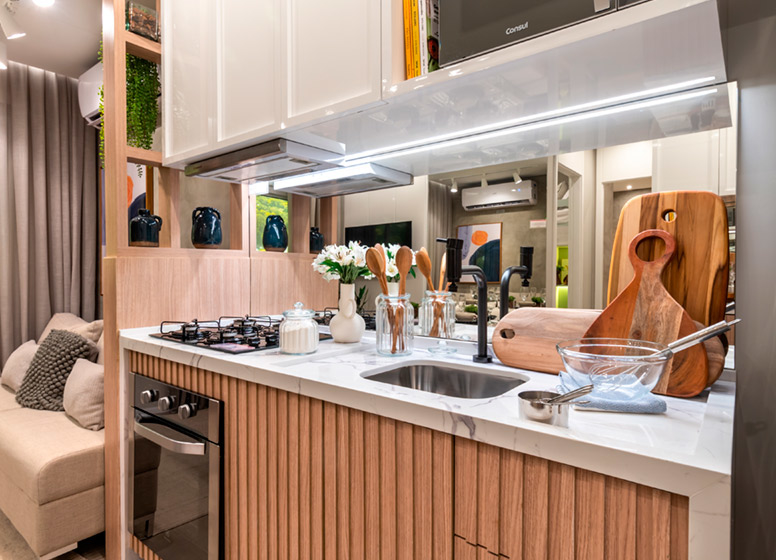 Cozinha - 32m² (decorado) - Plano&Mais Cambuci