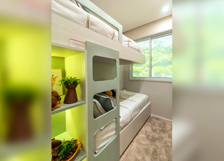 Dormitório I - 32m² (decorado) - Plano&Mais Cambuci