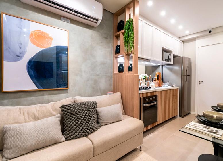 Living - 32m² (decorado) - Plano&Vista do Carmo II