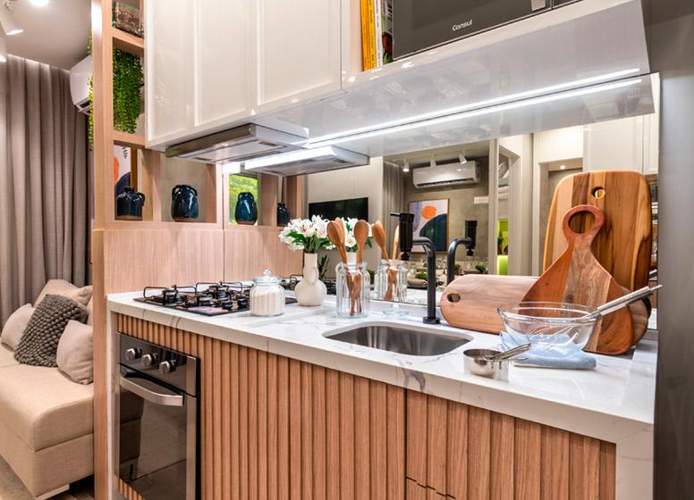 Cozinha - 32m² (decorado) - Plano&Vista do Carmo II