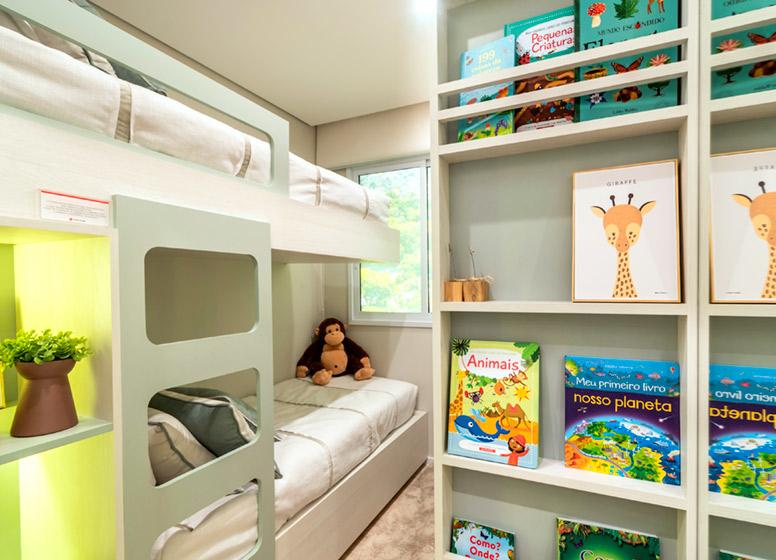 Dormitório I - 32m² (decorado) - Plano&Vista do Carmo II