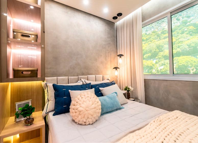 Dormitório II - 32m² (decorado) - Plano&Vista do Carmo II