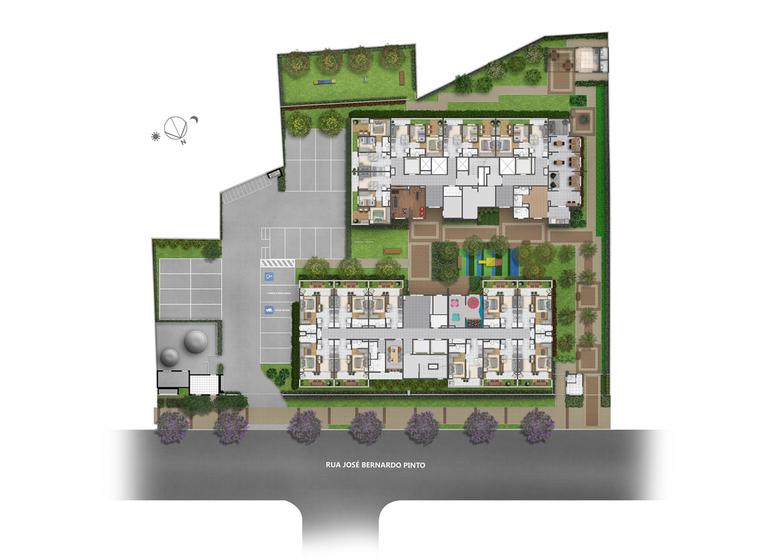 Implantação - Perspectiva Ilustrada - Plano&Vila Guilherme