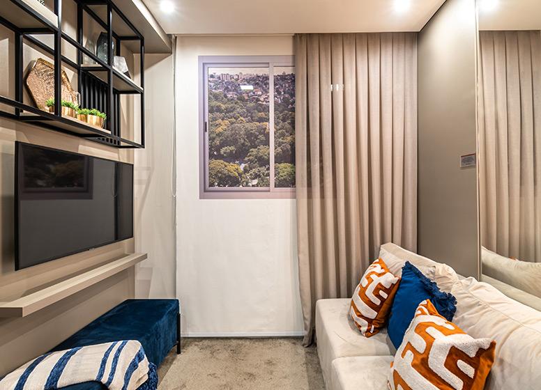 Living - 29m² (decorado) - Plano&Estação Giovanni Gronchi