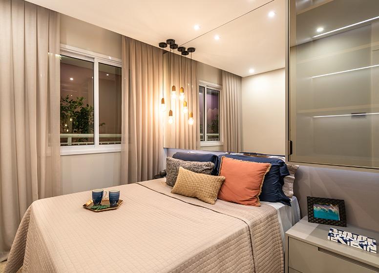Dormitório - 29m² (decorado) - Plano&Estação Giovanni Gronchi