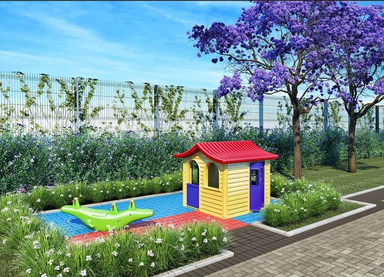 Playground - Perspectiva ilustrada - Plano&Mais Limão