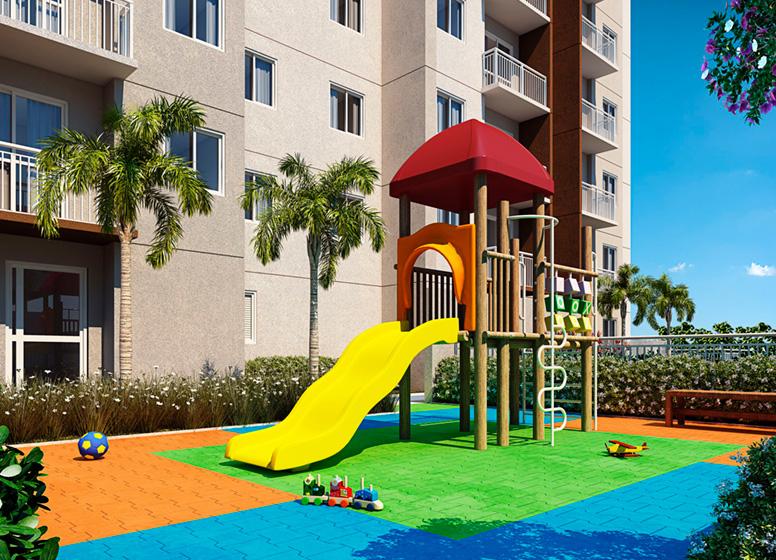 Playground - Perspectiva ilustrada - Sppace Jardim Botânico