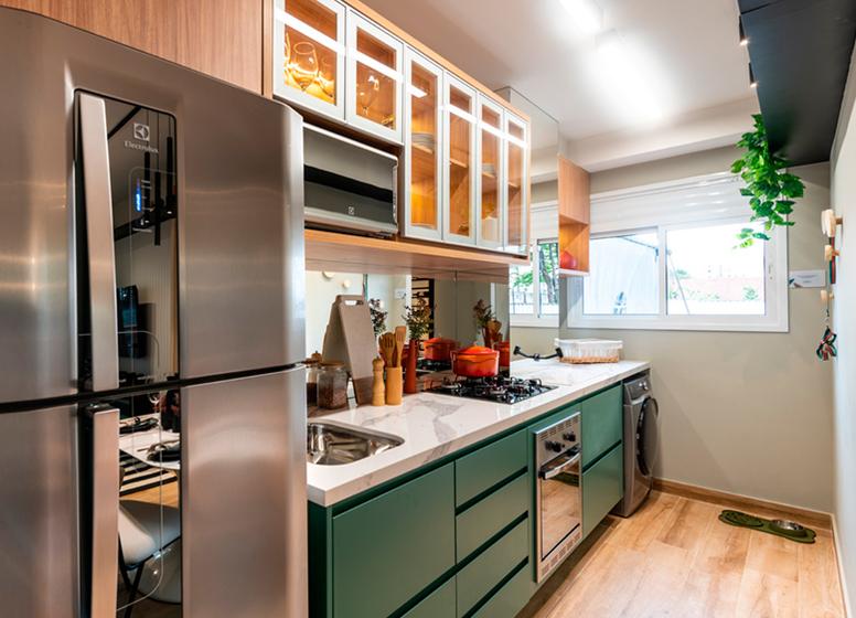Cozinha com área de serviço - Sppace Jardim Botânico